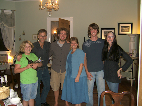 Lars' sister and kitty kat,Martin, Lars, Kathy, Jared, and Sarah: