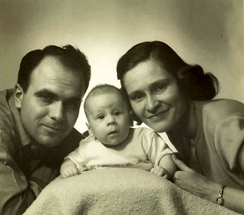 Martin with mom and dad